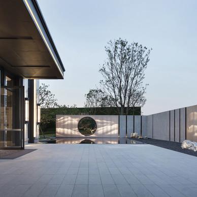 奥迅设计新作:荟萃岭南人文的售楼部混搭风格外墙局部装饰设计图