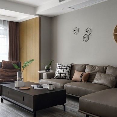 高雅的现代风格三居室客厅设计图