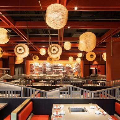 带你穿越混搭风格中餐厅大厅设计