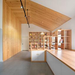 原木明净的北欧风格休闲区设计