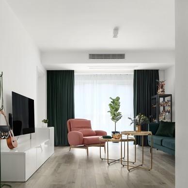 素净淡雅的客厅设计