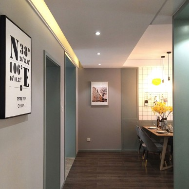 北欧风格之北纬38度 • 松果之家走廊设计图