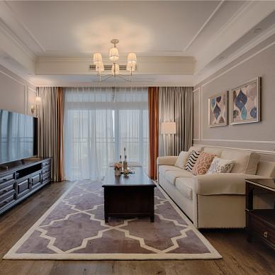 舒适的现代美式三居室客厅设计