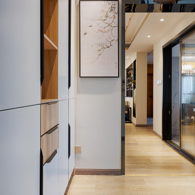 舒适的中式四居室玄关设计