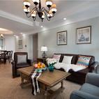 住宅三居美式客厅装修设计图
