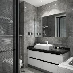 舒适现代卫浴设计图