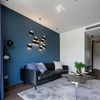 黑色简约客厅壁灯设计