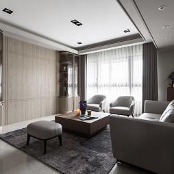 新古典豪宅客厅储物柜设计