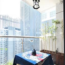 日式风格两居阳台设计图