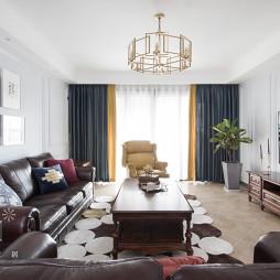 160m² 摩登美式客厅设计图