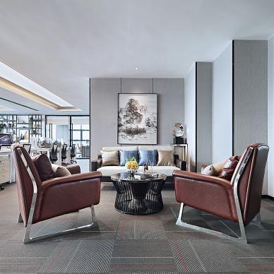 珠海+金融公司写字楼接待区设计