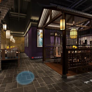 主题中餐厅设计:鱼小妖餐厅深圳IBC店