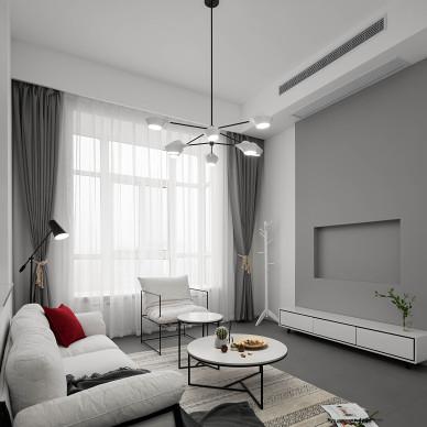 106㎡极简北欧客厅设计