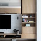 淳朴日式客厅储物柜设计