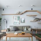 淳朴日式客厅隔板设计