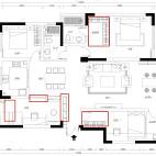 140平现代简约,直接用瓷砖来做电视背景墙_3489474