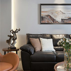 140平现代简约,直接用瓷砖来做电视背景墙_3489477