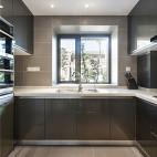 140平现代简约厨房设计实景图