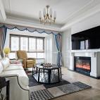 《陈院长雅居》美式客厅设计实景图