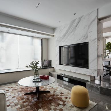 灰色系现代背景墙设计