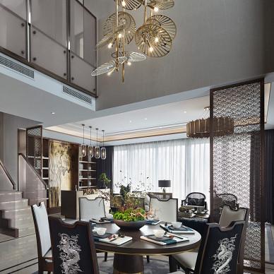 中洲中央公园别墅样板间餐厅吊灯设计