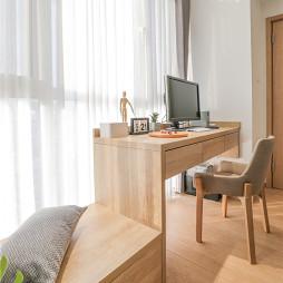 木质北欧卧室书桌设计图