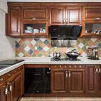净秋空美式厨房设计图