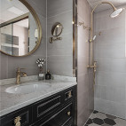 浅蓝系美式卫浴设计图