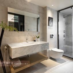 台式风格别墅卫浴洗手台设计
