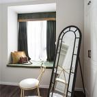 精装美式三居卧室飘窗设计图