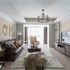 精装美式三居客厅实景图