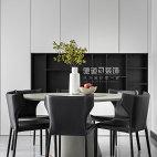 现代黑白系餐厅设计实景