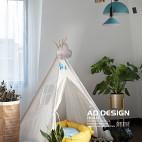 浪漫现代儿童房休闲区设计