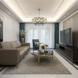 古典美式轻奢客厅设计