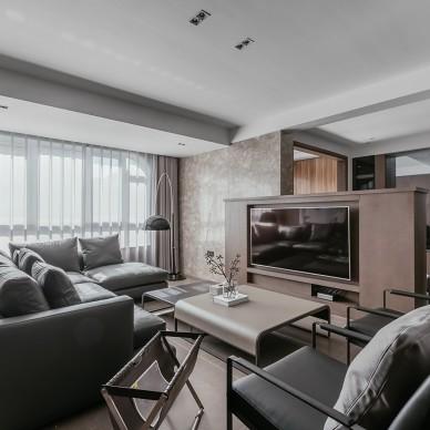 140m2二居現代風客廳設計圖