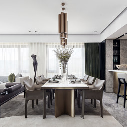 260平大平层样板房餐厅设计