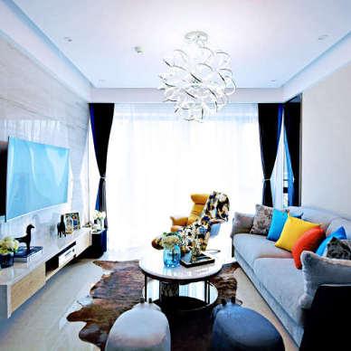【青白设计】现代简约风格,空间通透,舒适美观。_3538210