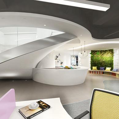 恒光集团公司办公室装修设计_3544305