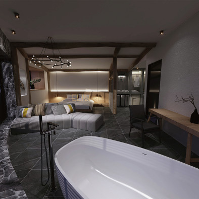 王怡琳 /重庆屿涧江景酒店室内设计方案