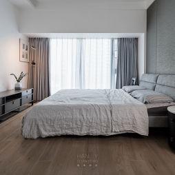现代卧室实景图片