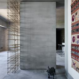 《蓝眼》现代客厅玄关设计图
