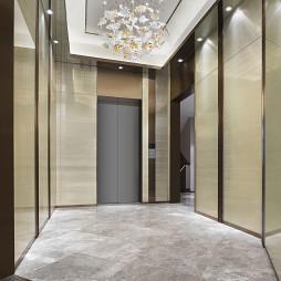 中海世纪荟售楼处电梯厅设计