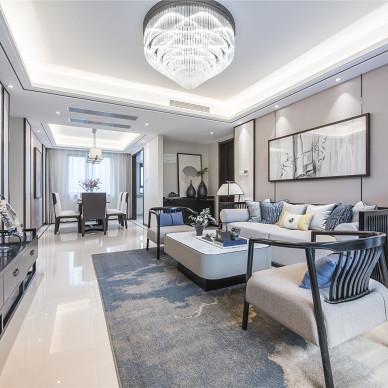 融创中新国际城精装样板间客厅实景