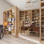 复式书房书柜设计