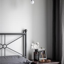 灰黑色北欧风卧室壁灯设计