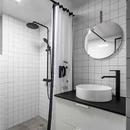 灰黑色北欧风卫浴设计
