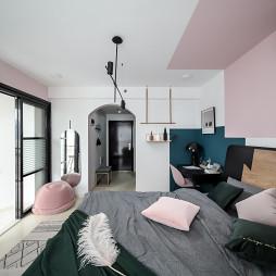 32m²北欧撞色小公寓卧室设计