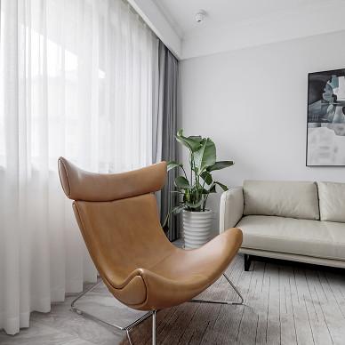 簡單北歐風客廳窗簾圖片