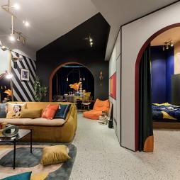 多彩混搭風客廳設計圖