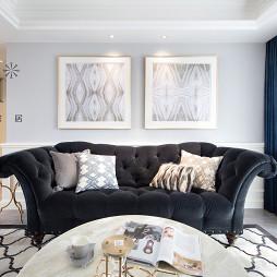 130㎡低奢美式客厅装饰画图
